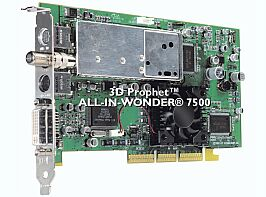 Guillemot / Hercules 3D Prophet All-In-Wonder Radeon 7500, 64MB DDR, DVI, TV-out, TV-Tuner, AGP, bulk (4860212)