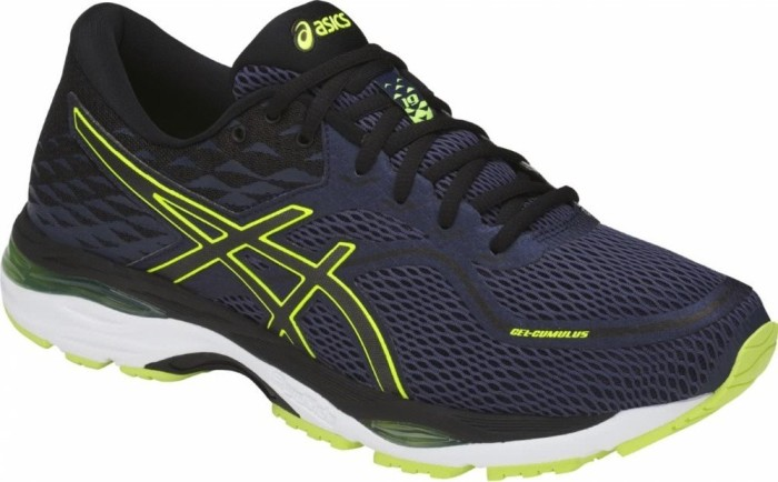 Asics Gel-Cumulus 19 indigo blue/black/safety yellow (Herren) (T7B3N-4990)