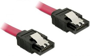 DeLOCK SATA 6Gb/s cable red 0.7m, straight/straight (82678)