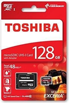 Toshiba Exceria M301-EA R48 microSDXC 128GB, UHS-I U1, Class 10 (THN-M301R1280EA)