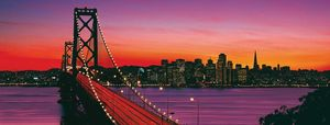 Ravensburger puzzle San Francisco Oakland Bay Bridge at night (15104)