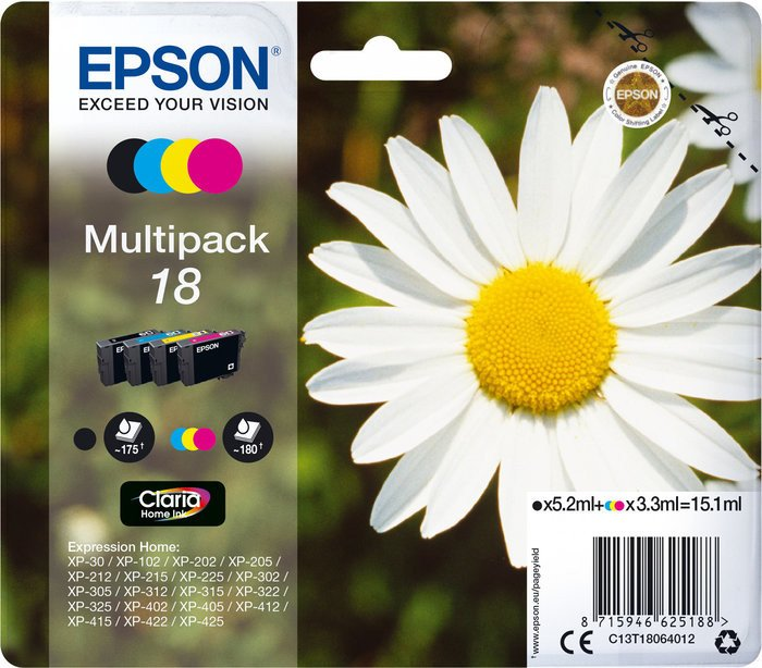Epson ink 18 multipack (C13T18064010)