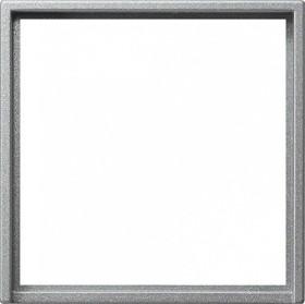 Gira Adapterrahmen mit quadratischem Ausschnitt 50x50mm, alu (0282 26)