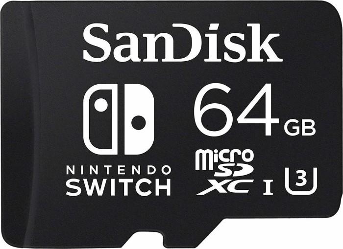 SanDisk Nintendo Switch R100/W60 microSDXC 64GB, UHS-I U3, Class 10 (SDSQXAT-064G-GN6ZA)
