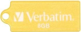 Verbatim Store 'n' Go Micro gelb 8GB, USB-A 2.0 (47422)