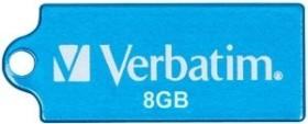 Verbatim Store 'n' Go Micro blau 8GB, USB-A 2.0 (47425)