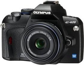 Olympus E-420 schwarz mit Objektiv 25mm 2.8 Pancake (N3125892)