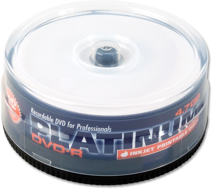 BestMedia Platinum DVD-R 4.7GB 16x printable, 25-pack Spindle (100308)