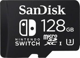 SanDisk Nintendo Switch 2018 R100/W60 microSDXC 128GB, UHS-I U3, Class 10 (SDSQXAO-128G-GN6ZA)