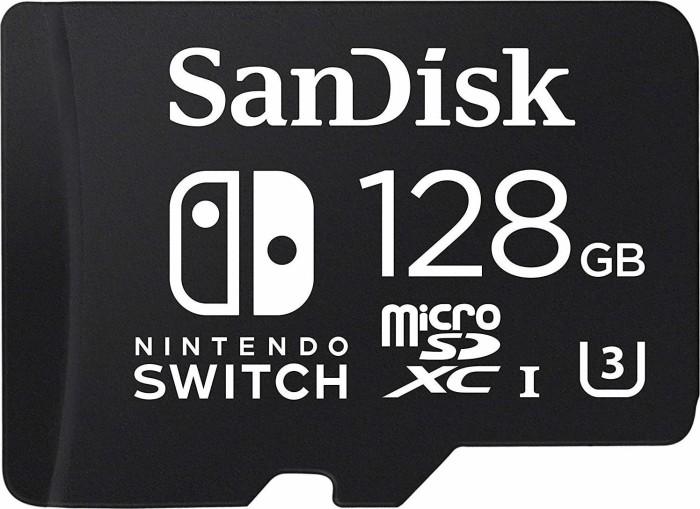 SanDisk Nintendo Switch R100/W60 microSDXC 128GB, UHS-I U3, Class 10 (SDSQXAO-128G-GN6ZA)