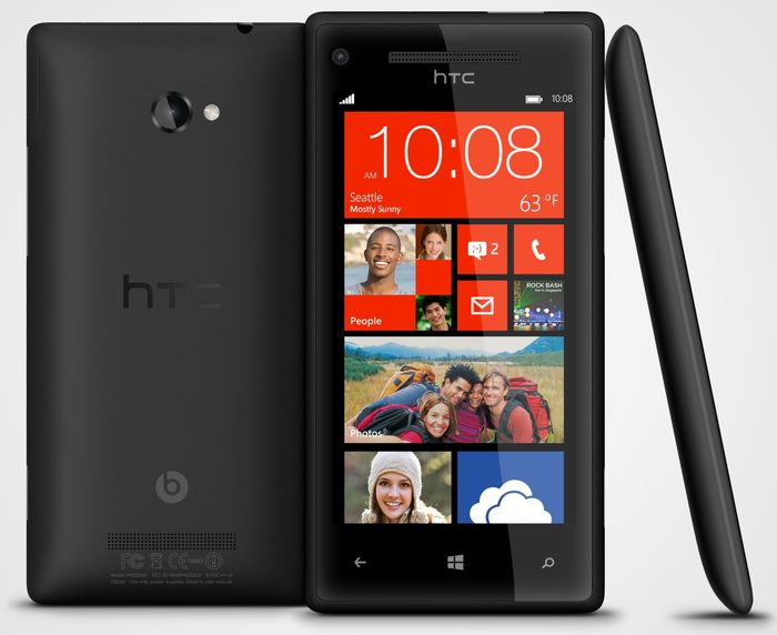 HTC Windows Phone 8X with branding