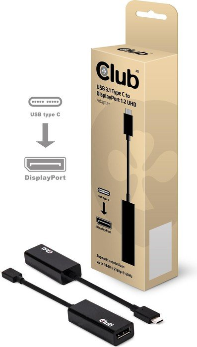 Club 3D active USB 3.1 type-C/DisplayPort 1.2 adapters (CAC-1507)