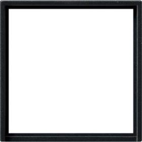 Gira Adapterrahmen mit quadratischem Ausschnitt 50x50mm, schwarz matt (0282 005)