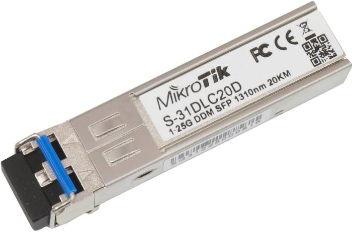 MikroTik RouterBOARD S-31 Gigabit LAN-Transceiver, LC-Duplex SM 20km, SFP (S-31DLC20D)
