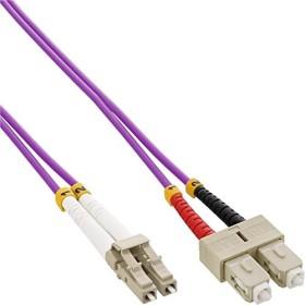 InLine LWL Duplex Kabel, OM4, 2x LC Stecker/2x SC Stecker, 1.0m (88641P)