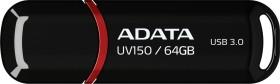 ADATA DashDrive UV150 schwarz 64GB, USB-A 3.0 (AUV150-64G-RBK)