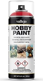 Vallejo Hobby Paint Spray Fantasy Color Primer bloody red (28.023)