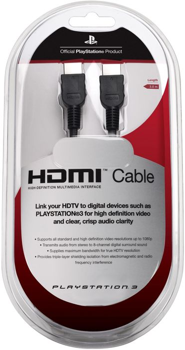 Sony standard HDMI cable, 3m (PS3) (9640486)