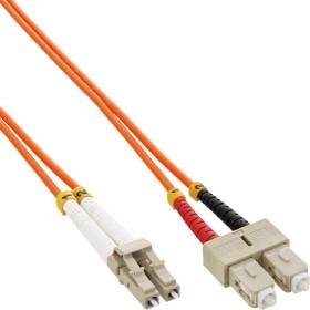 InLine LWL Duplex Kabel, OM1, 2x LC Stecker/2x SC Stecker, 15m (88655A)