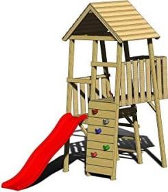 Wendi Toys Spielturm Hase mit Rutsche und Kletterwand (WTJ2)