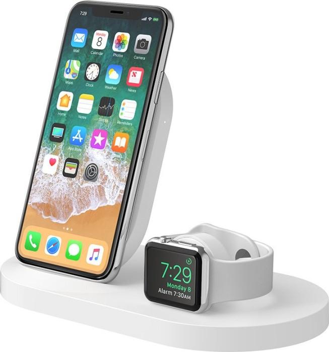 Belkin BoostUp Wireless Charging Dock for Apple iPhone + Apple Watch weiß (F8J235VFWHT)