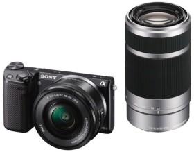 Sony Alpha NEX-5R schwarz mit Objektiv AF E 16-50mm 3.5-5.6 OSS PZ und 55-210mm 4.5-6.3 OSS (NEX-5RYB)