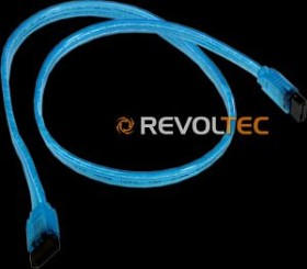 Revoltec SATA-Kabel UV 0.5m, blau (RC036)