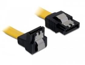 DeLOCK SATA 6Gb/s Kabel gelb 0.3m, unten/gerade (82806)