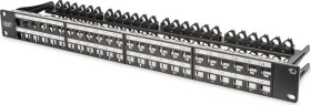"Digitus Professional patch panel for RJ-45 Keystone modules 19"" black, 48-port, 1U (DN-91424)"