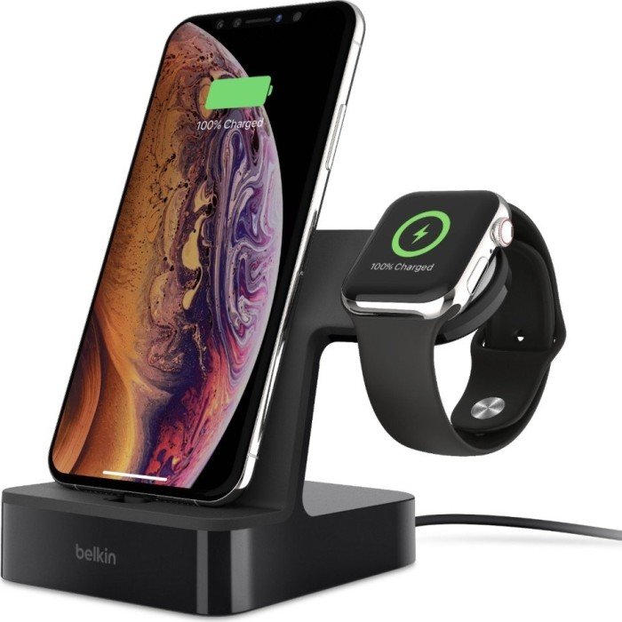 Belkin PowerHouse Charge Dock for Apple iPhone + Apple Watch black (F8J237vfBLK)