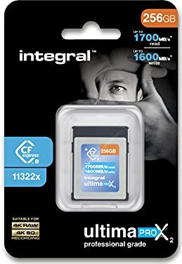 Integral ultima PRO X2 R1700/W1600 CFexpress Type B 256GB (INCFE256G1700/1600) -- via Amazon Partnerprogramm