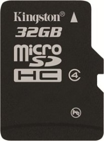 Kingston microSDHC 32GB, Class 4 (SDC4/32GBSP)