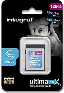 Integral ultima PRO X2 R1700/W1600 CFexpress Type B 128GB (INCFE128G1700/1600) -- via Amazon Partnerprogramm
