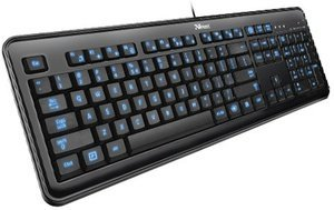 Trust eLight Illuminated Keyboard, USB, UK (17365)