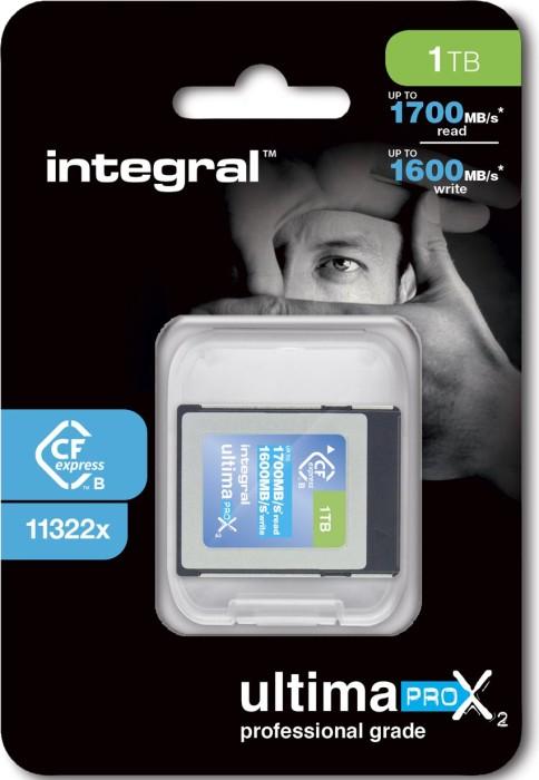 Integral ultima PRO X2 R1700/W1600 CFexpress Type B 1TB (INCFE1TB1700/1600) -- via Amazon Partnerprogramm