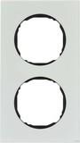 Berker R.8 Rahmen 2fach, polarweiß/schwarz (10122609)