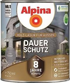 Alpina Farben Dauer-Schutz Holz-Lasur außen Holzschutzmittel basalt, 750ml