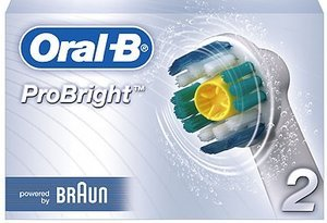 Braun Oral-B brush heads ProBright, 2-pack (747277/EB18-2)
