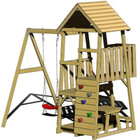 Wendi Toys Spielturm Gorilla mit Rutsche, Schaukel und Kletterwand (WTJ8)