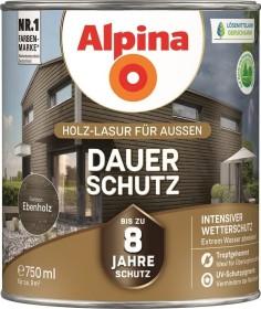 Alpina Farben Dauer-Schutz Holz-Lasur außen Holzschutzmittel ebenholz, 750ml