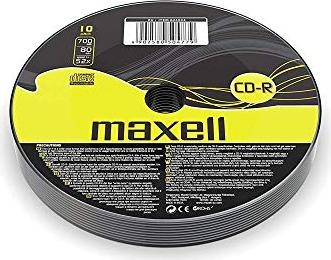 Maxell CD-R 80min/700MB,  10er-Pack -- via Amazon Partnerprogramm