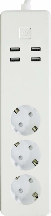 Woox Smart Multi-Plug 3-way white, 4x USB, remote control mains socket (R4028)