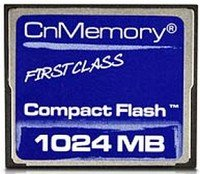 CnMemory CompactFlash Card (CF)  1GB (CFC80010)