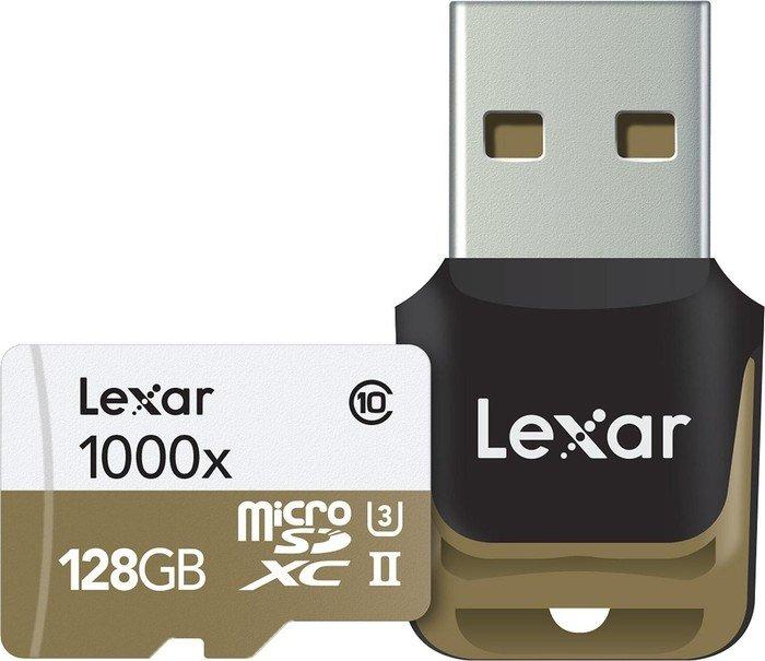 Lexar Professional 1000x microSDXC Kit 128GB, UHS-II U3/Class 10 (LSDMI128CBEU1000R)