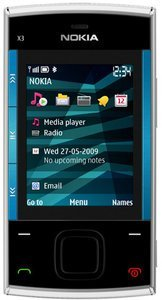 Nokia X3 silver/blue