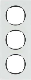 Berker R.8 Rahmen 3fach, polarweiß/schwarz (10132609)