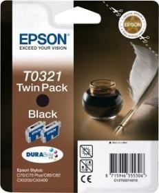 Epson Tinte T0321 schwarz, 2er-Pack (C13T03214210)