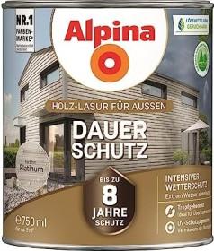 Alpina Farben Dauer-Schutz Holz-Lasur außen Holzschutzmittel platinum, 750ml