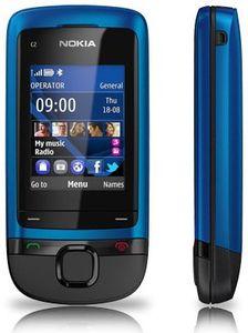 Nokia C2-05 peacock blue