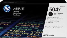 HP Toner 504X black high capacity, double (CE250XD)